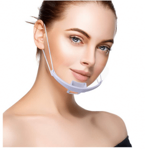 10- pcs Reusable Safety Open Face Guard