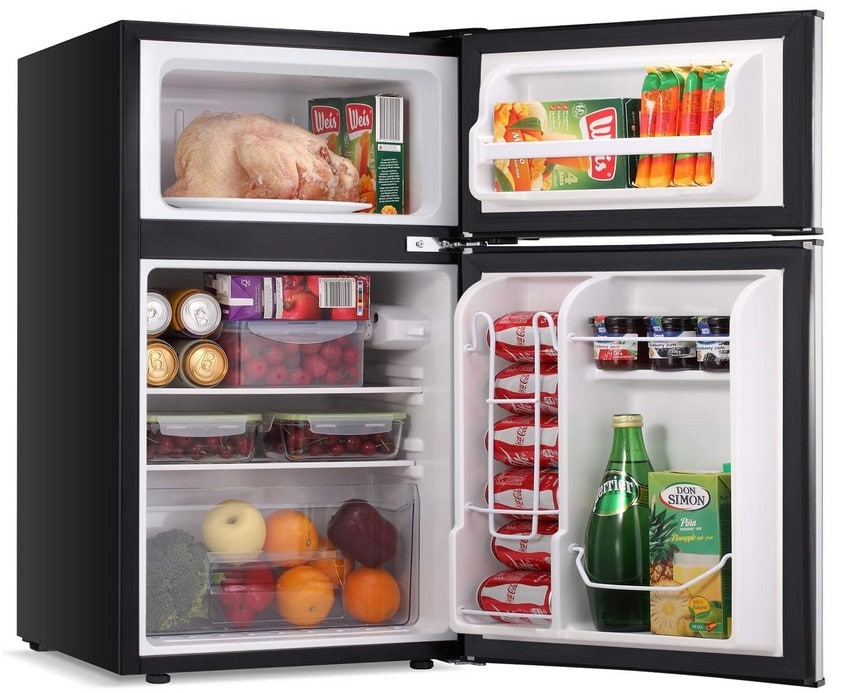 Fridge filled with items
